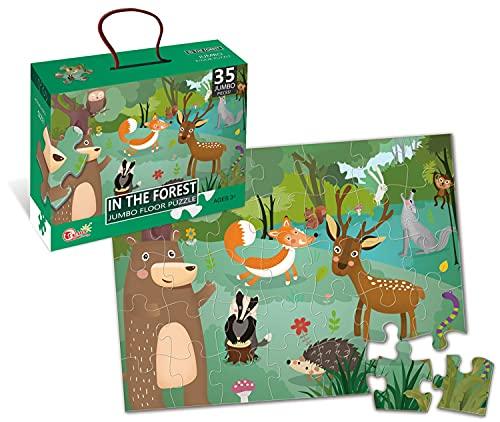 BP-En el Bosque 35 Piezas Puzzle, Color Jumbo/Gigante (88128)