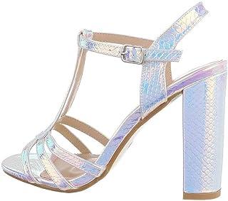 Escarpins Haut Talons, Chaussures d'été Escarpins Sandale pour Femme avec Bride