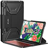 INFILAND Galaxy Tab S7 Backlit Keyboard Case, Multi-Angle 7 Colors Backlight Detachable Wireless Keyboard Case Compatible with Samsung Galaxy Tab S7 11' SM-T870/T875/T876 2020 Tablet, Black-US Layout