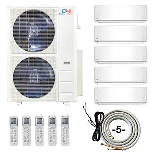 COOPER AND HUNTER Penta 5 Zone 9000 9000 9000 9000 24000 Ductless Mini Split Air Conditioner Heat Pu
