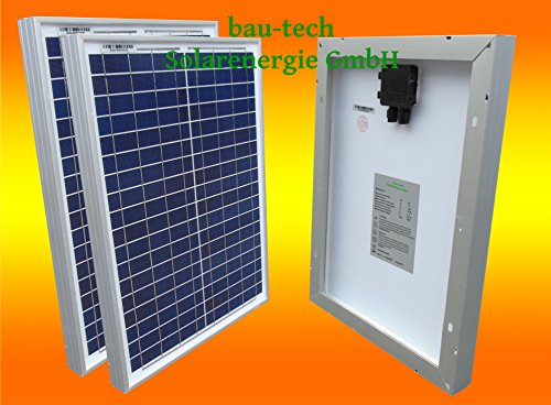 bau-tech Solarenergie 2 Stück 20 Watt Solarmodul Solarpanel Photovoltaik Solarzelle GmbH