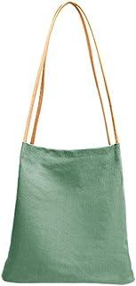 Ulisty Damen Klein Segeltuch Schultertasche Eimer Tasche Einkaufstasche Handtasche Tägliche Tasche Grün