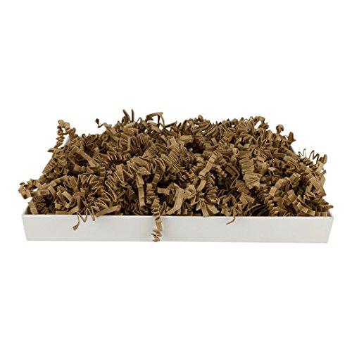 SizzlePak 011, natur, braunes Füllmaterial und Polsterpapier zum Füllen, Polstern, Ausstopfen, Dekorieren von Geschenk-Verpackungen, Deko - 1 kg