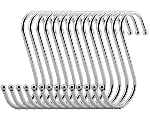 Vipith 20unidades Metal forma S acero inoxidable