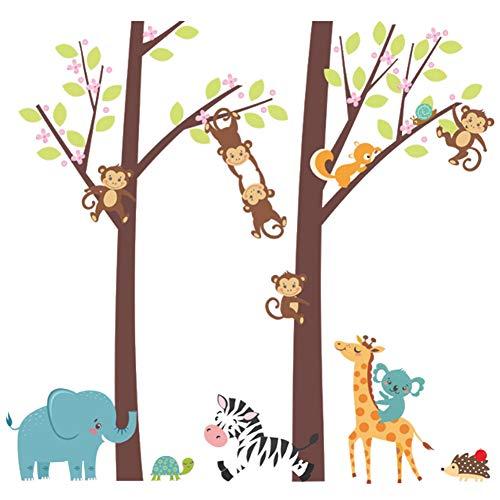 Changor Etiqueta engomada de la Pared Exquisita, patrón de Dibujos Animados Hecho de PVC 30x90cm para Sala de Estar Dormitorio para niños