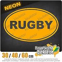 rugby - 3つのサイズで利用できます 15色 - ネオン+クロム! ステッカービニールオートバイ