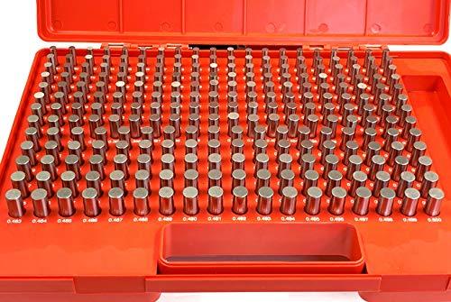 """HHIP 4101-0012 (M2-) Pin Gage Set (0.251"""" - 0.500""""), 250 Piece"""