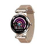 LJMG Smart Watch, H1 Mode Mode, Montre Femme, Moniteur De Fréquence Cardiaque, Tracker Fitness,...