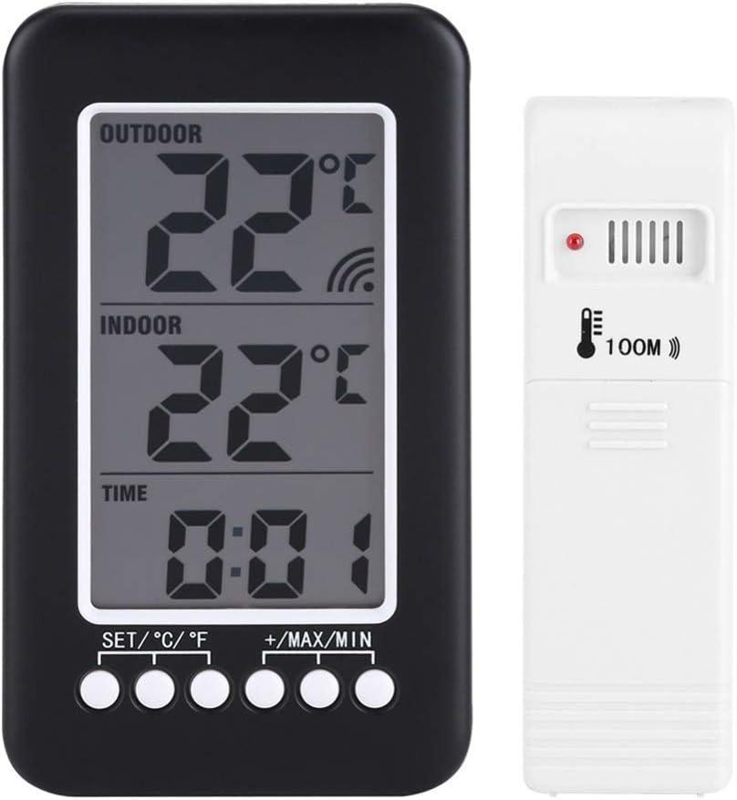 HBIN LCD Chicago Mall Digital Indoor Popular overseas Outdoor Clock Temperature Thermometer Me