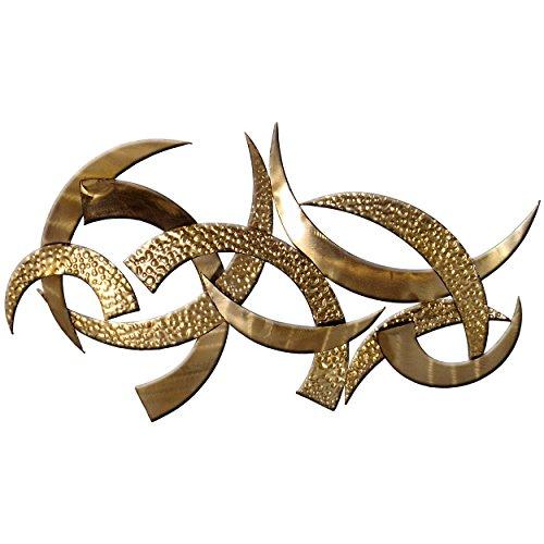 """Carrick Design """"Giza"""" - Arte de pared (metal, 100 x 56 cm), color dorado"""