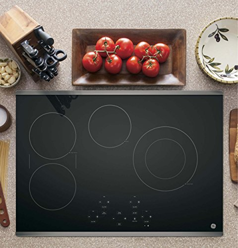 GE JP5030SJSS 30 Inch Smoothtop Electric Cooktop with SyncBurner, Keep Warm, Digital Touch Controls, 4 Radiant Elements, Built-in Timer, Melt Setting, ADA Compliant Fits Guarantee 4 JP5030SJSS