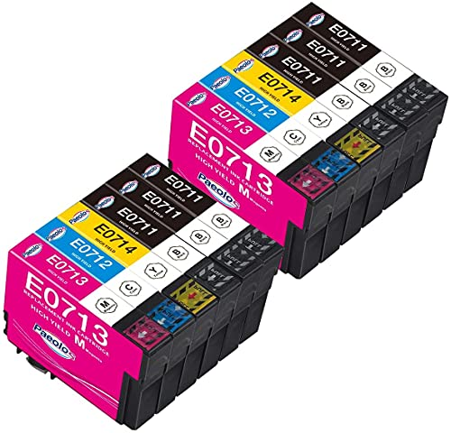 Paeolos T0715 Cartuchos Multipack compatibles con Epson T0711 T0712 T0713 T0714 para Epson Stylus SX100 SX110 SX200 SX210 SX215 SX218 SX400 SX405 SX410 SX510w DX4400 DX7400 DX8400 DX9400F BX300F
