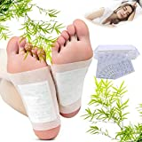 Coxeer 80Pcs Foot Pads Pain Relief Health Care Foot Care Pads with 100Pcs Adhesive Sheets for Foot Care Removing Impurities Relieve Stress Improve Sleep