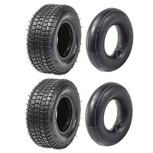 JCMOTO Pack of Two 9 x 3.50-4 Tire & Tube Kit for Skateboard Scooter Go Kart ATV
