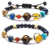 Donne sistema solare universo pianeti Galaxy le otto Guardian stella braccialetto di perle in pietra naturale braccialetto per uomo