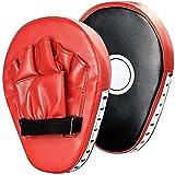 Ducomi Guantoni Paracolpi Boxe - Guanti Allenamento Box Uomo Donna - Attrezzi Ideali per Pugilato, Boxing, MMA, Arti Marziali, Karate, Muay - 2 Pz (Red)