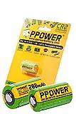 PPOWER CR2 15270 15266 Wiederaufladbare LiFePO4 Akkus, 3 V, echte Kapazität, 200 mAh, 2 Stück