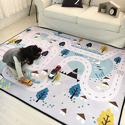 Tapis de jeu Tapis de jeu Rug City Life Idéal for jouer avec des voitures et des jouets Jouez Apprenez et amusez-vous en toute sécurité Taille de bébé 195x150cm (76.7 * 59 pouces) (Color : 3)