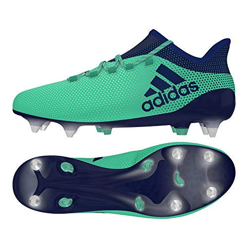 adidas Herren X 17.1 SG Fußballschuhe, Grün (Aergrn/Uniink/Hiregr Aergrn/Uniink/Hiregr), 40 EU