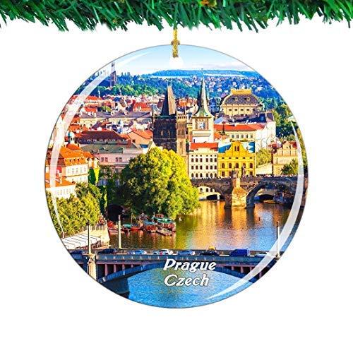 Kysd43Mill Czech Prague Ceramic Ornaments Christmas Tree Decorations Ornaments Keepsake for Women Girls Friends