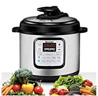 Becooker 11-in-1 Multi-Function Programmable Electric Pressure Slow Cooker, Stainless Steel Pot, 4 Quart, Black
