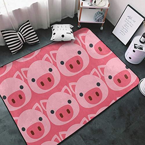 Lujosa alfombra moderna súper suave de espuma viscoelástica para sala de estar, dormitorio, cuarto de bebé, cómoda decoración del hogar, alfombra gruesa antideslizante de 152 x 91 cm, pines para bolos