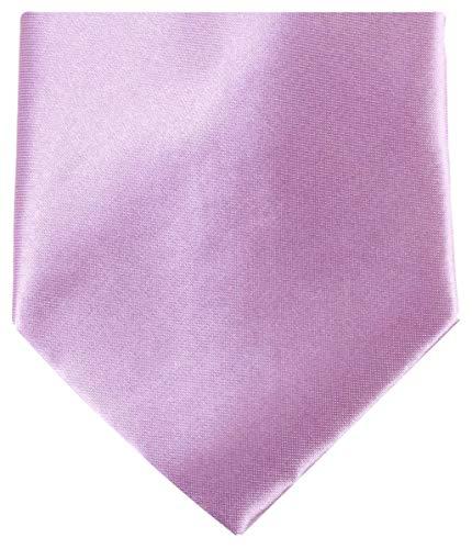 Knightsbridge Neckwear Mens regolare poliestere cravatta - Lilla chiaro