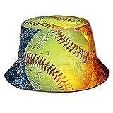 Yearinspace Fire Softball Unisex Bucket Hat Fischerhut Sonnenhut