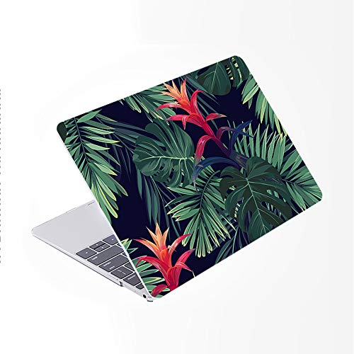 SDH for MacBook Air 13 Inch Case 2020 Release A2179 with Retina, Plastic Pattern Hard Shell & Laptop Sleeve Bag & Keyboard Cover for MacBook Air 13 with Touch ID, Plant Leaves 10