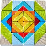 HABA - Jeu d'assemblage 3D - Blocs en bois Mosaïque - 305459 - Jouets Bois