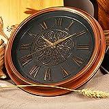 Reloj clásico redondo Vintage reloj de pared decorativo de 11 pulgadas Relojes de pared grandes retro Relojes de pared grande silencioso Movimiento operado por batería fácil de leer Reloj de pared