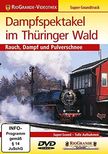 Dampfspektakel im Thüringer Wald - Rauch, Dampf und Pulverschnee
