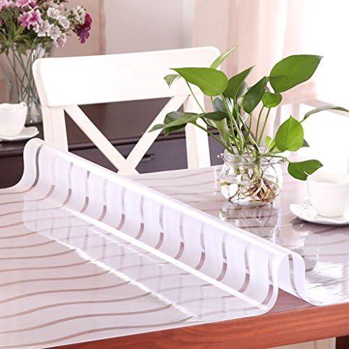 Küchenwäsche PVC Tischdecke, Weißhe Glas Tischmatten Wasserdichte Kristallplatte Kaffeetisch Tuch Tischdecke 1.2MM ( Farbe   C , Größe   100150CM )