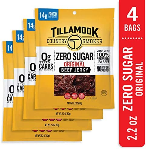 Tillamook Zero Sugar Original Keto Friendly Beef Jerky 4 Pack 8 8 oz product image