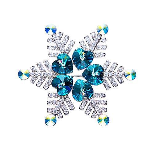 Broche de Vestir Pin de Broche de Copo de Nieve, aleación de...