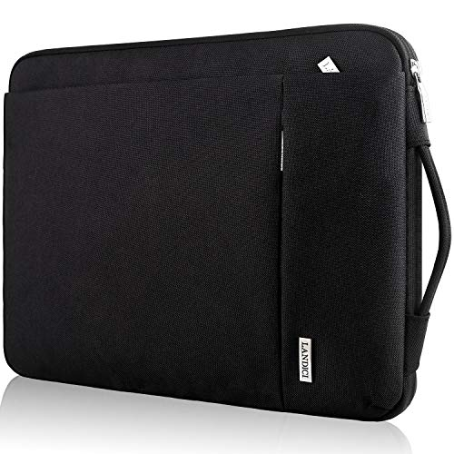 Landici Laptop Sleeve Shockproof Chromebook Case with Vertical Pockets Compatible with MacBook Air 11,New MacBook 12',Surface Pro X/7/6/5,11.6 Samsung,HP,Acer,Asus Carrying Briefcase Bag -Black