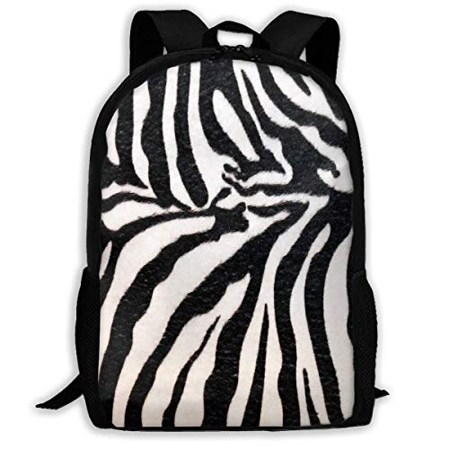 TRFashion Mochila Backpack For Girls Boys Animal Print Zebra Texture Z