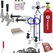 Kegco BF UCK2-BLCP-5T Conversion Kit, 2 Faucet with Tank, Ultimate
