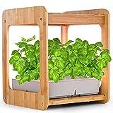 CRZJ Jardín de Hierbas para Interiores, Kit de Sistema de jardín hidropónico de Agua para macetas hidropónicas, con luz LED para Cultivo de Plantas, 12 macetas