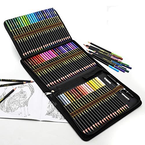 Buntstifte Set, 72 Bleistifte Professionelle Farbstifte für Malbuch Erwachsene, Malbücher Kinder, Künstler Ölbasiert Bundstifteset zum Malen, Ausmalen