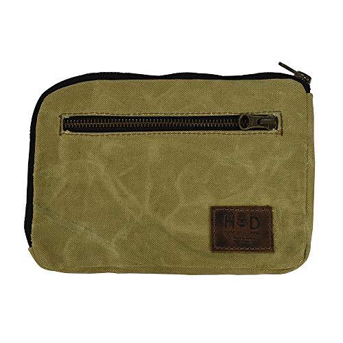 Hide amp Drink Zipper Gear Pouch EDC Organizer Cash Holder Key Case Travel Essentials Handmade  Waxed Canvas