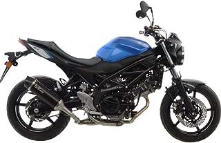 17-18 Suzuki SV650: Leo Vince Nero Slip-On Exhaust (Stainless Steel)