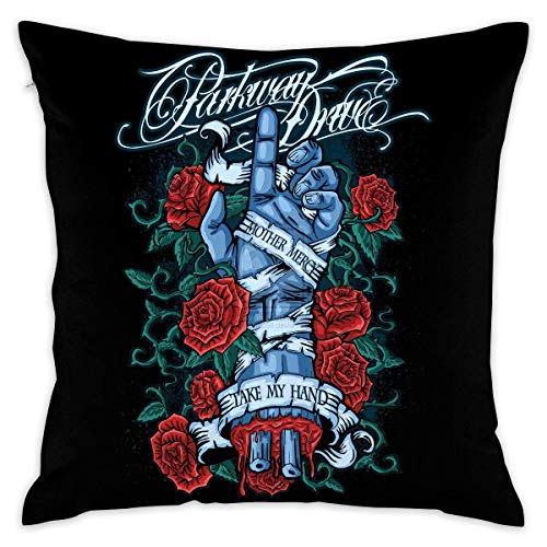 Red Parkway Drive Heavy Metal Decorative Throw Pillow Covers Case Pillowcases Kissenbezüge 20x20Inch(50cmx50cm)