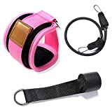 Onewell Door Pull Rope Fittings Butt Lift Exercise Elastic Band with Foot Ring Leggings Buckle Ankle Strap Set Sports Entertainment Yoga Resistant
