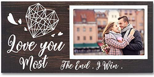 Valentine s Day Love Picture Frame for Boyfriend Girlfriend Couples Romantic Love You Most the product image