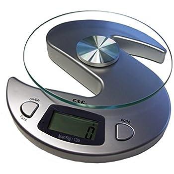 G & G KS-Silber 6000g/1g Küchenwaage Briefwaage Tischwaage Digitalwaage Scale