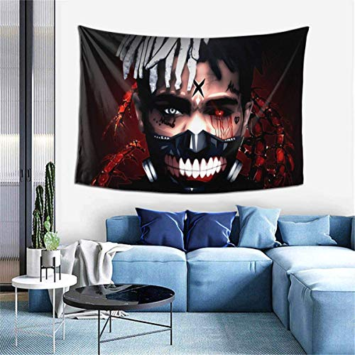 shenguang X-X-X-Tent-aci-on Rest in Peace Colorful Durable Tapestry Wall Hanging Stylish Home Decoration Art Print Resuable Wall Blanket for Dorm Living Room Bedroom Hotel 80'X60'
