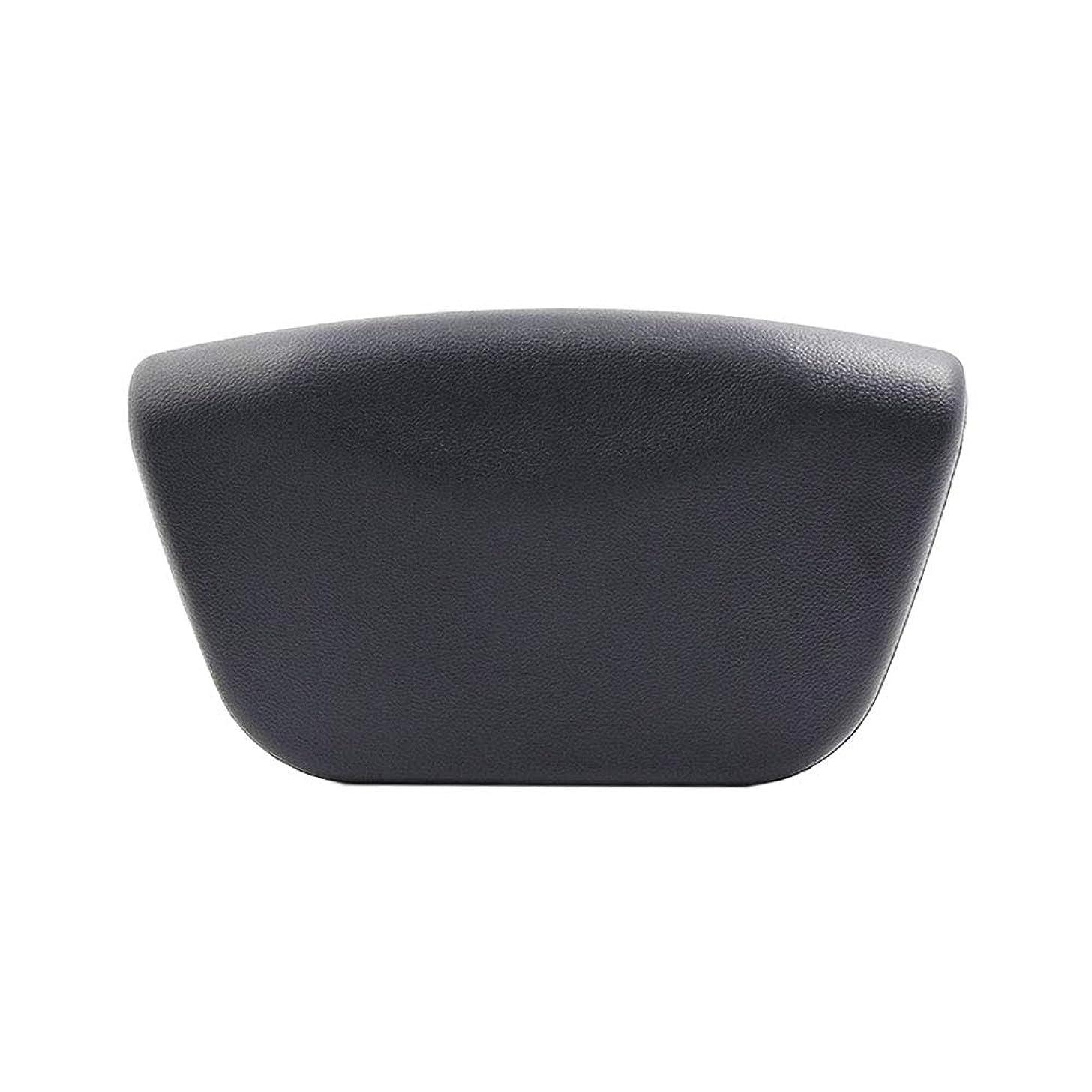 ループニュースペインBeaupretty PUバスタブピローバスタブピロースパヘッドレスト速乾性バスタブバスルーム(ブラック)