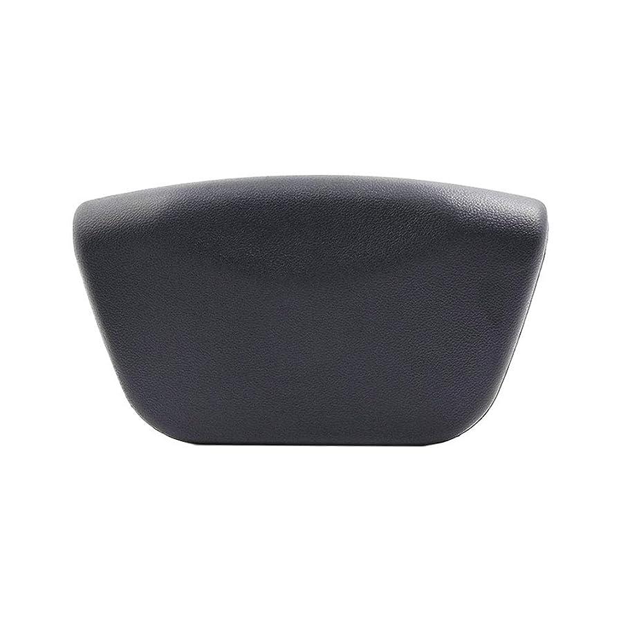 パーツ増加する戸口Beaupretty PUバスタブピローバスタブピロースパヘッドレスト速乾性バスタブバスルーム(ブラック)