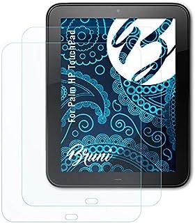 Bruni Skärmskydd är kompatibel med Palm HP TouchPad Film, kristallklart Skyddsfilm (2X)